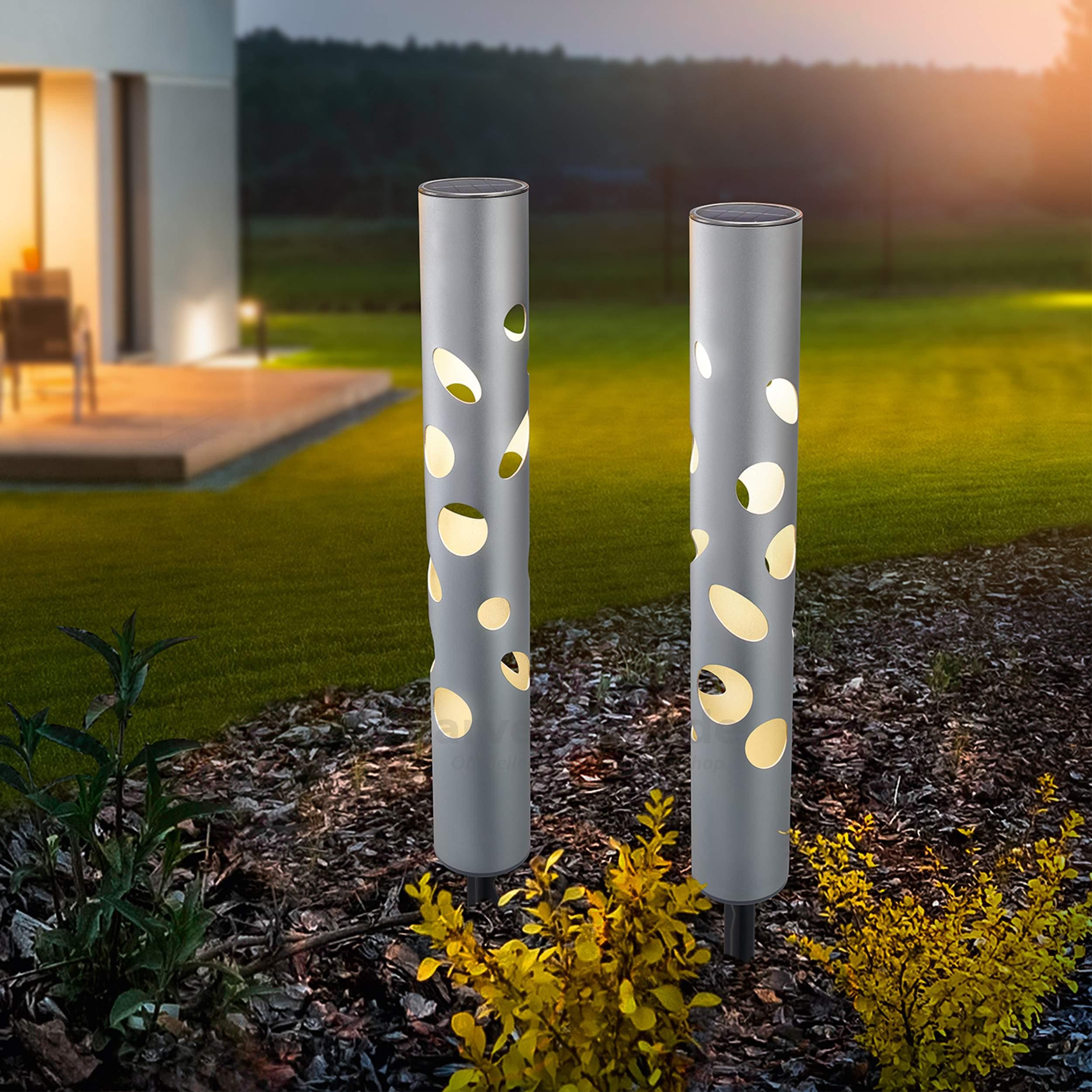 Solarlampen Garten Das Beste Von solarleuchten 2er Set Fantasy Light Duo Color