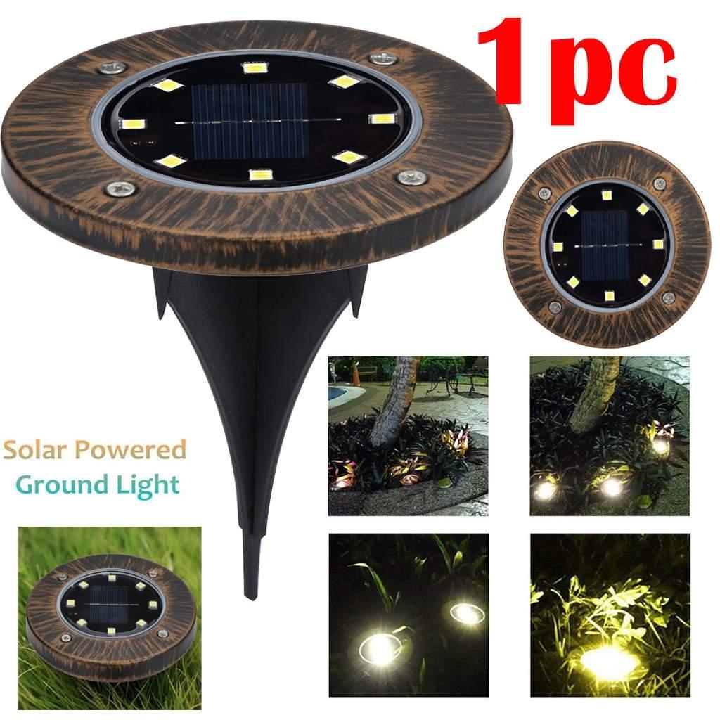 LED Solar Licht Holzmaserung Boden Licht LED Outdoor Pfad Lampe Spot Lampe Hof Garten Rasen Landschaft