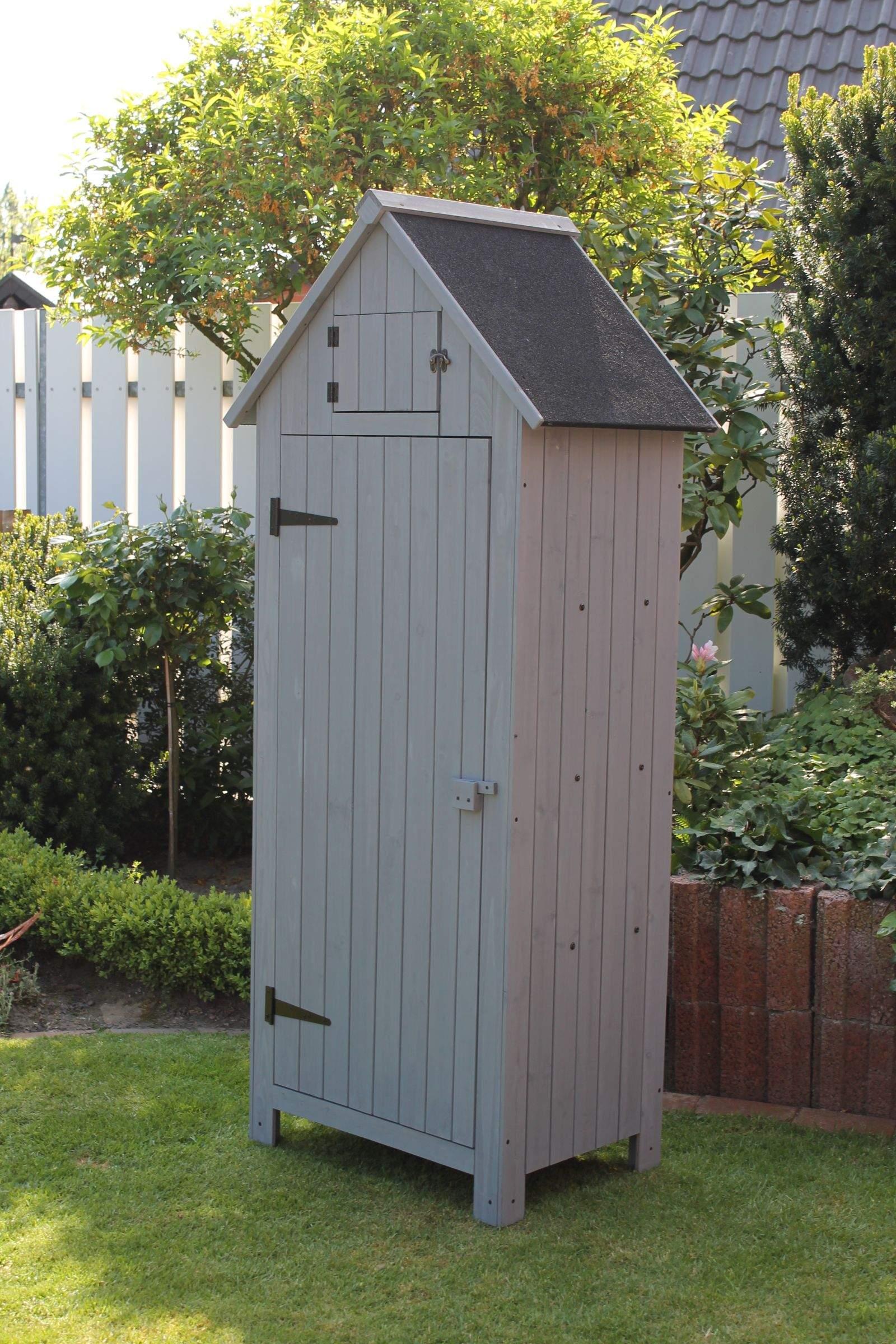 114 Gartenschrank im Vintage Look dunkelgrau 3 shop1