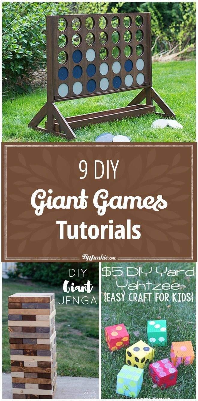 Spiele Garten Das Beste Von 9 Diy Giant Games Tutorials Games Giant Tutorials