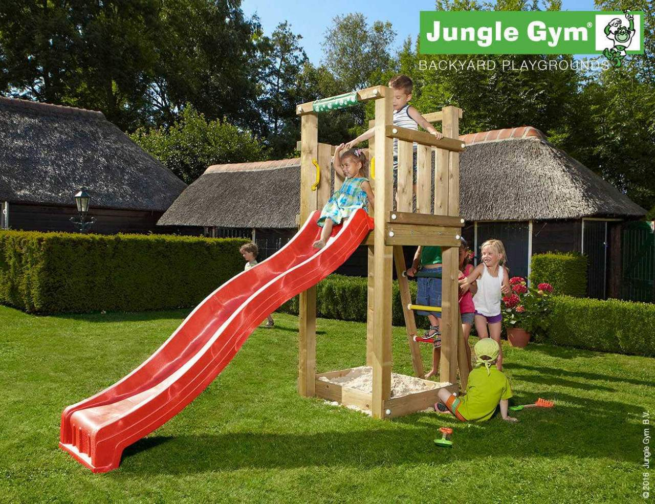 climbing frames for small gardens jungle tower red 1280x1280