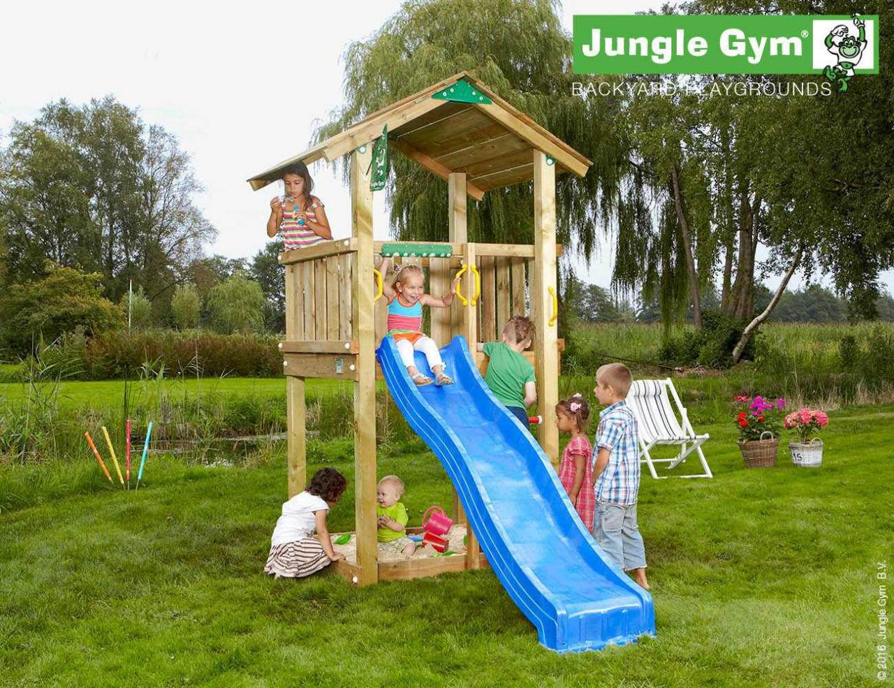 climbing frames for small gardens jungle casa blue 1280x1280