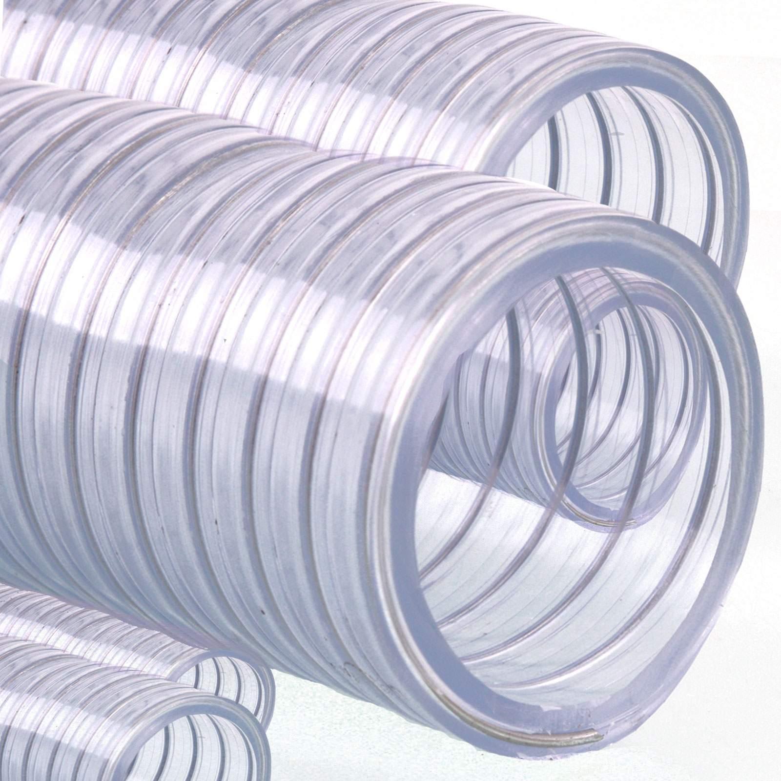 saugschlauch spiralschlauch abwasserschlauch stahlspirale transparent fl vr