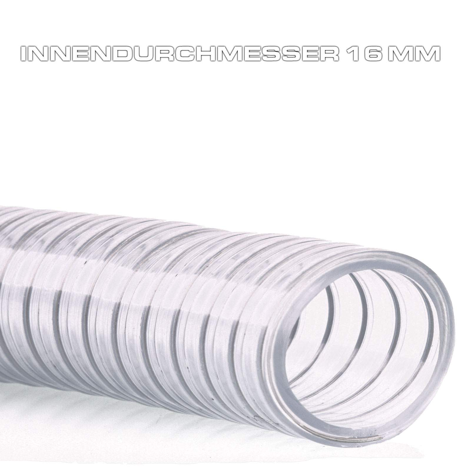 saugschlauch spiralschlauch abwasserschlauch stahlspirale transparent fl ga