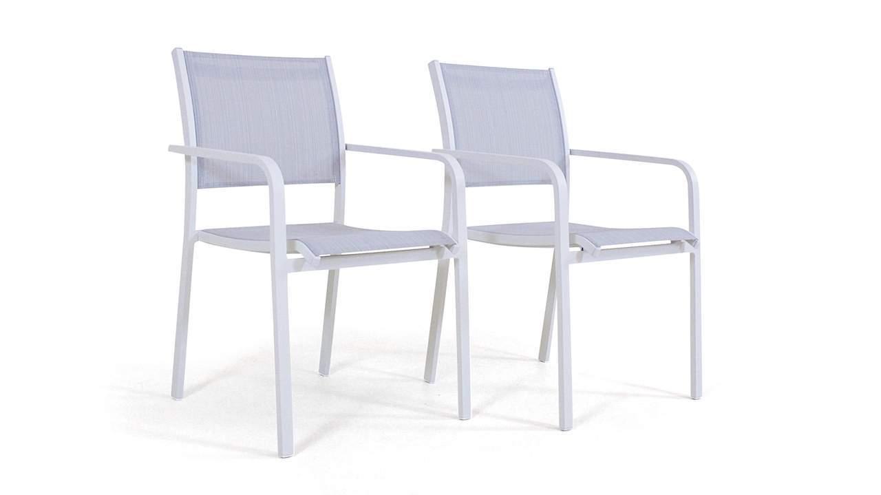 stapelsessel garten einzigartig alu stuhl tex b 2 stuck weis aluminium gartenmobel stuhl set in weis of stapelsessel garten