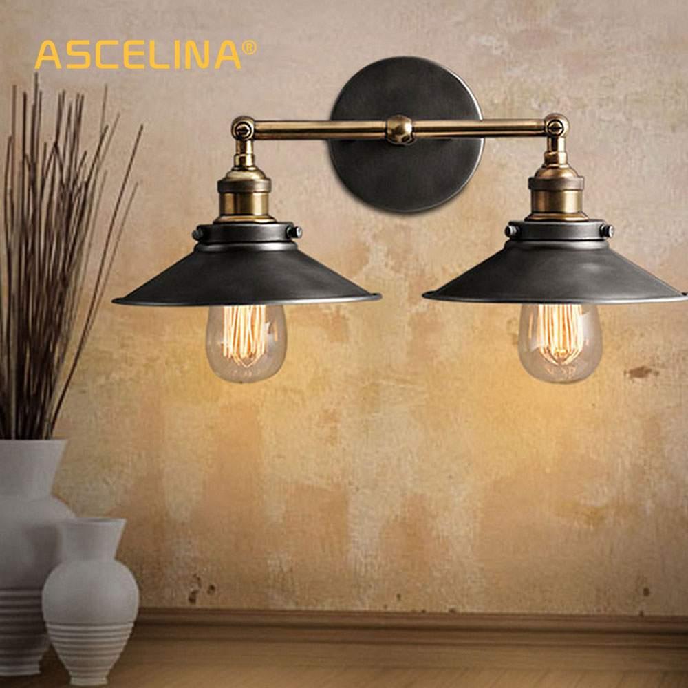 ASCELINA loft wand lampe industrie antike Wand Leuchte led WAND Lichter für home beleuchtung treppen schlafzimmer