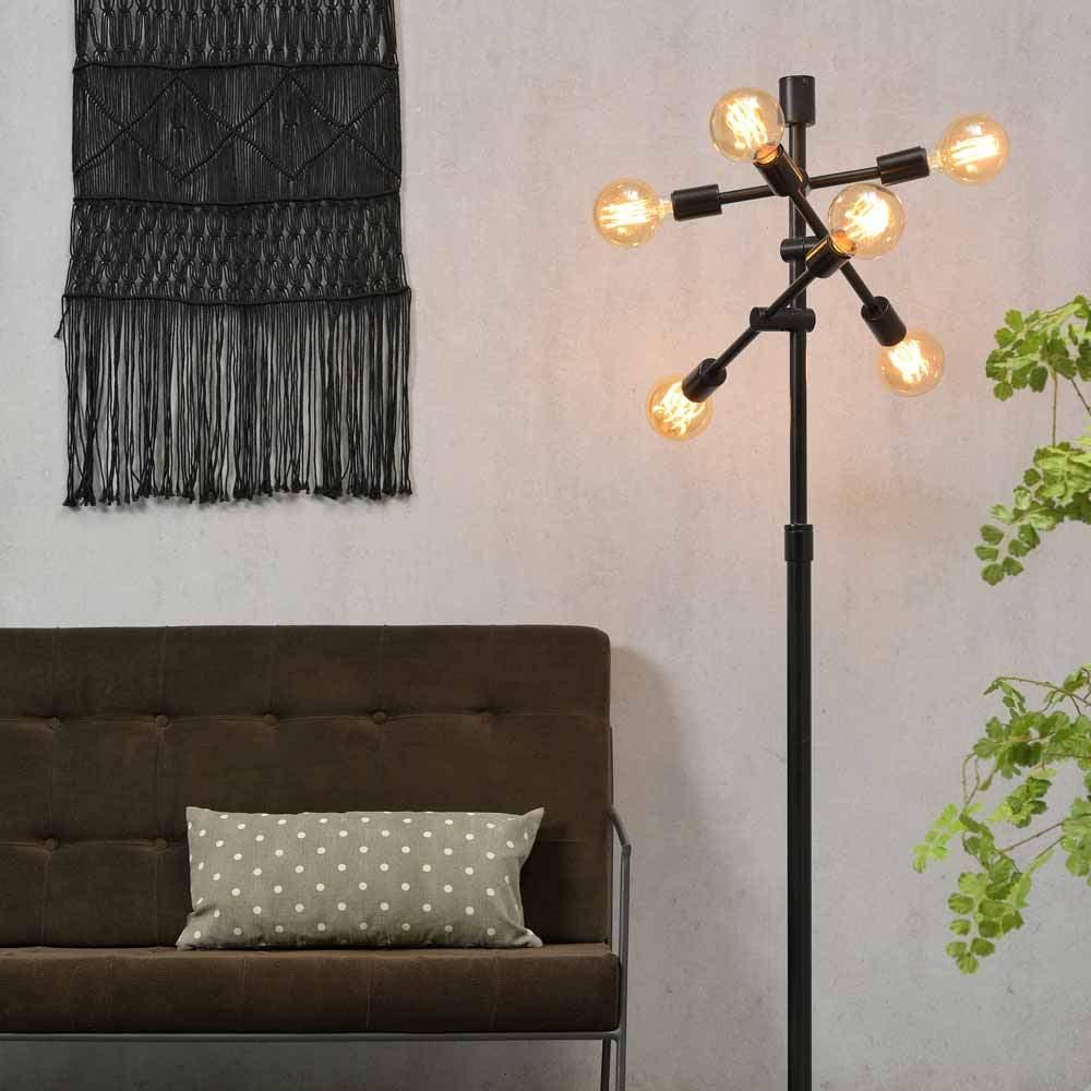 designer stehlampe schwarz metall stehleuchte 108 03 01 0054 02