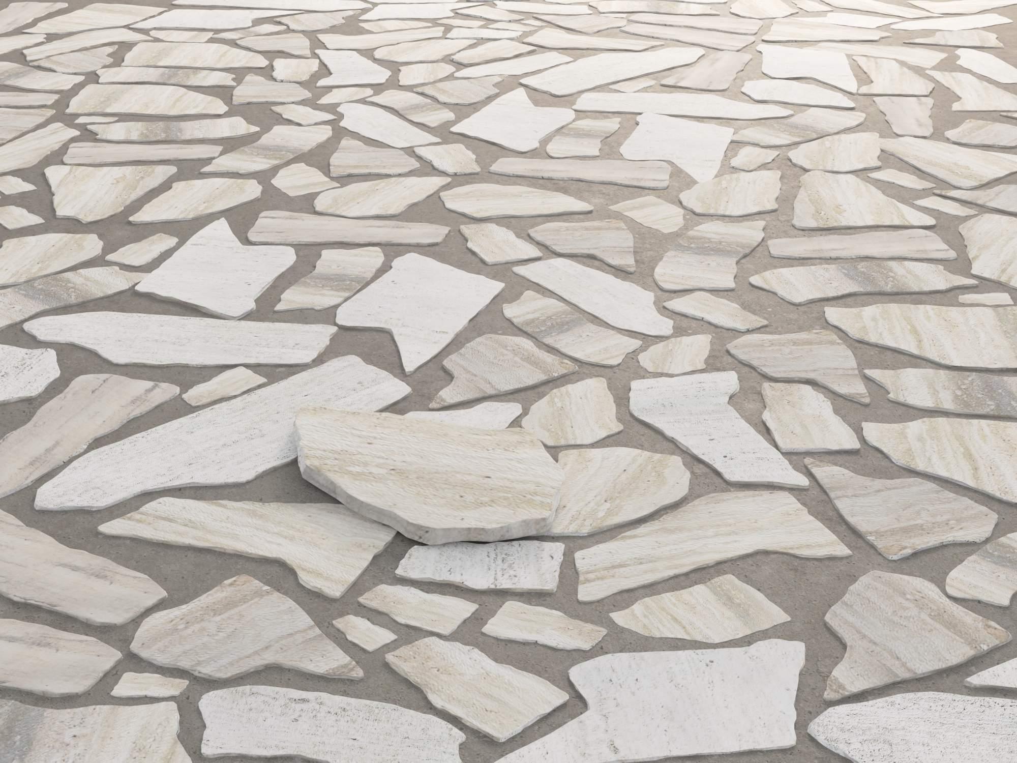 terrasse belag stein polygonalplatten naturstein beige gelb