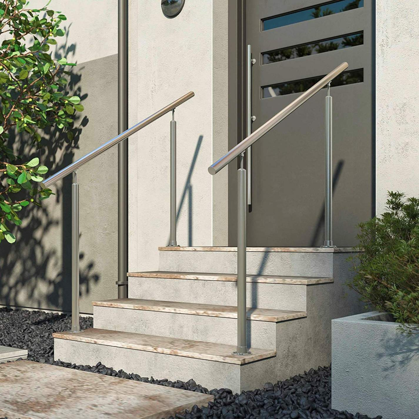dolle gelander edelstahl hauseingang aufgesetzte montage treppe ohne handlauf erlaubt treppe ohne handlauf erlaubt