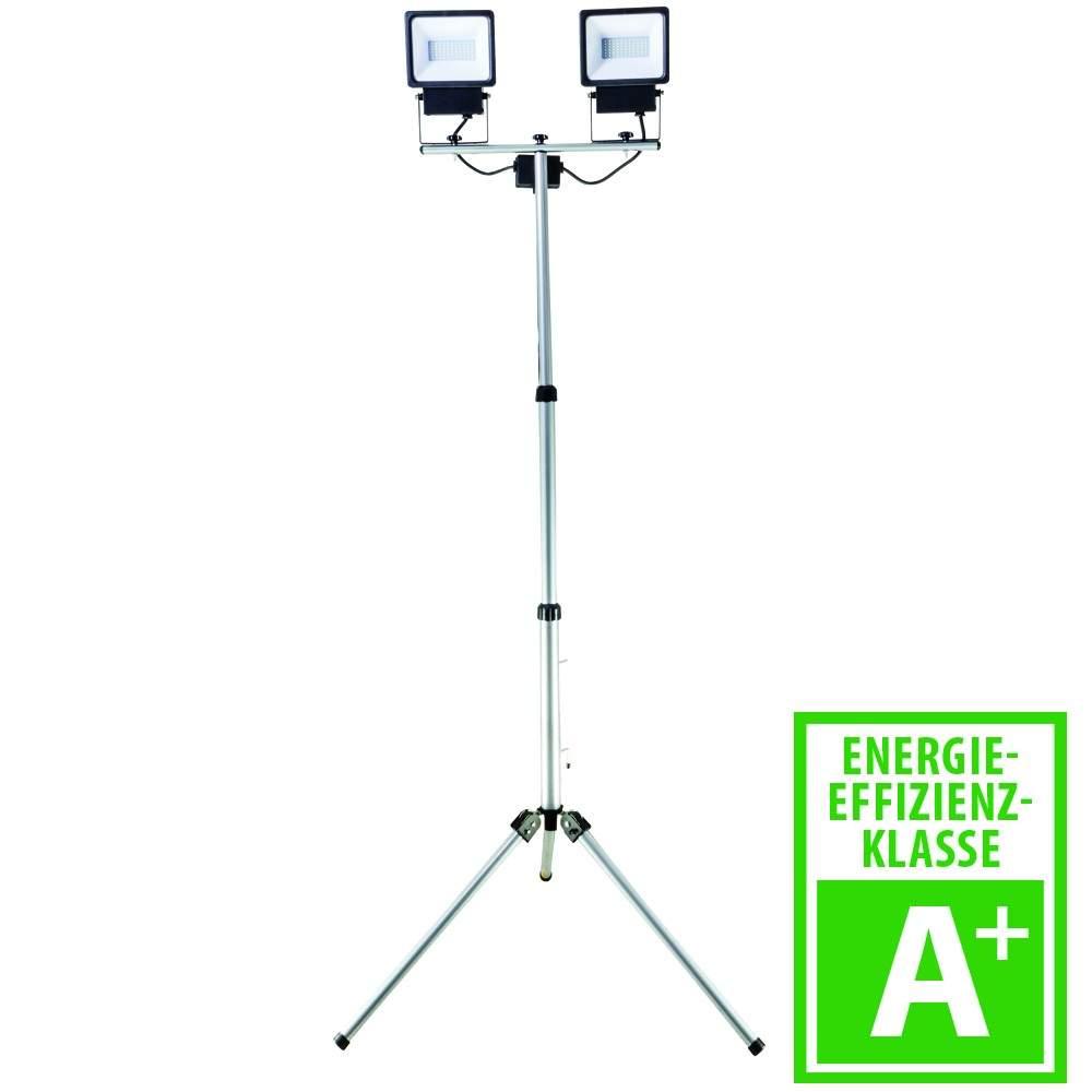 LED Strahler Eco auf Stativ 2x20 W schwarz 1