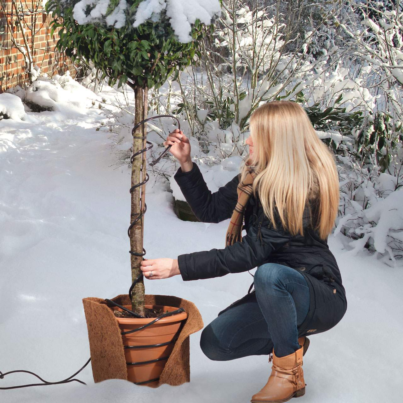 V Frostschutz Heizkabel Temperatur reguliert 2m schwarz 1