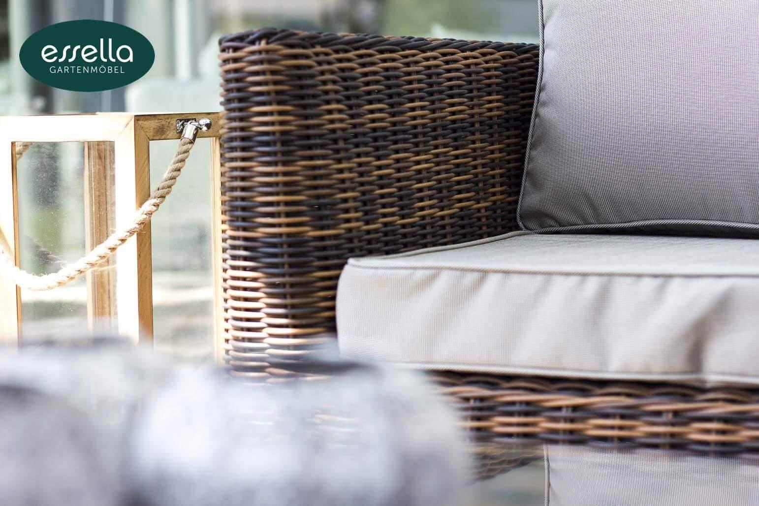 essella polyrattan loungemoebel sitzgruppe oslo hellbraun rundgeflecht 1
