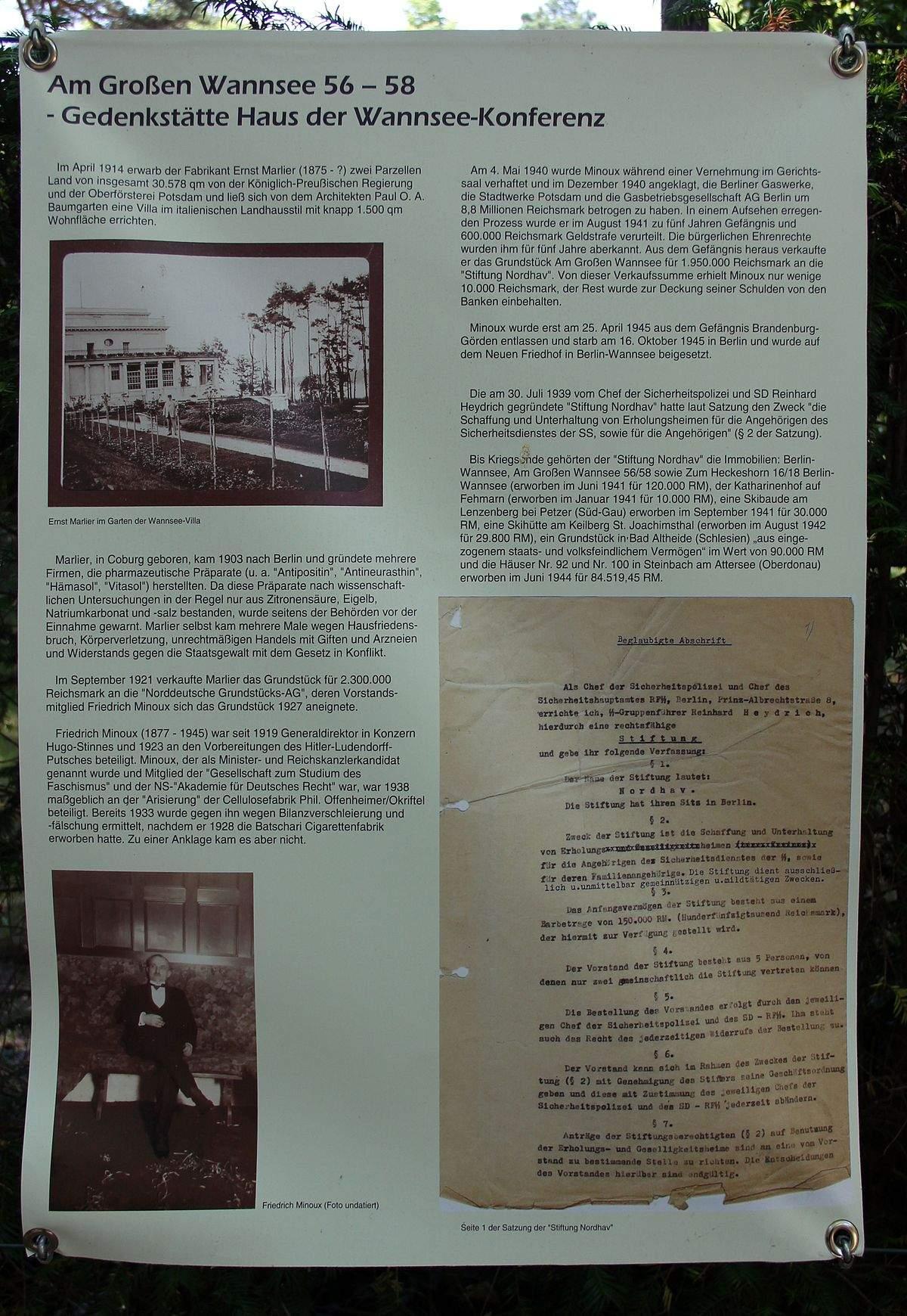 1200px Gedenktafel Am Großen Wannsee 58 Wanns Wannseekonferenz