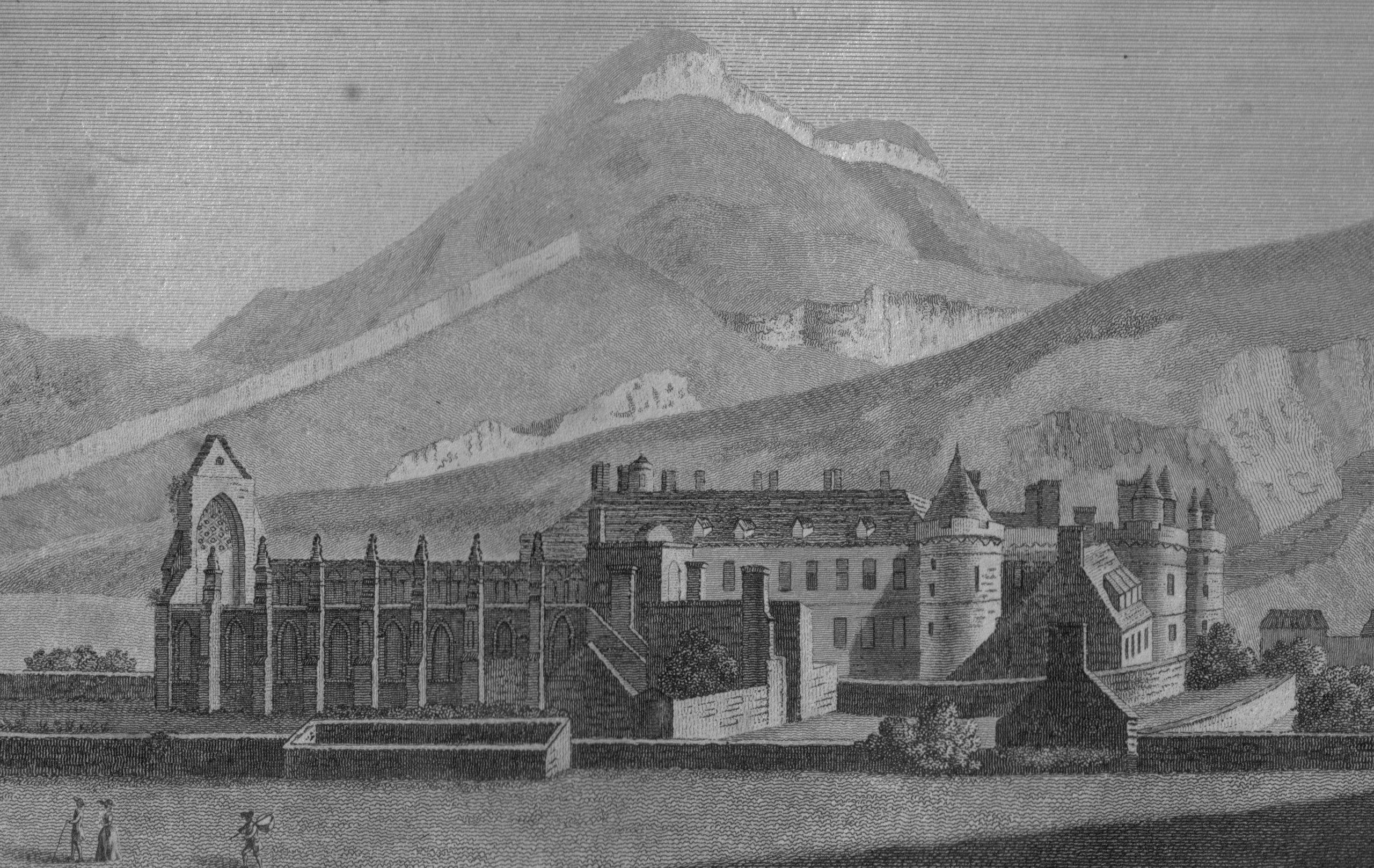 Holyroodhouse and abbey in 1789