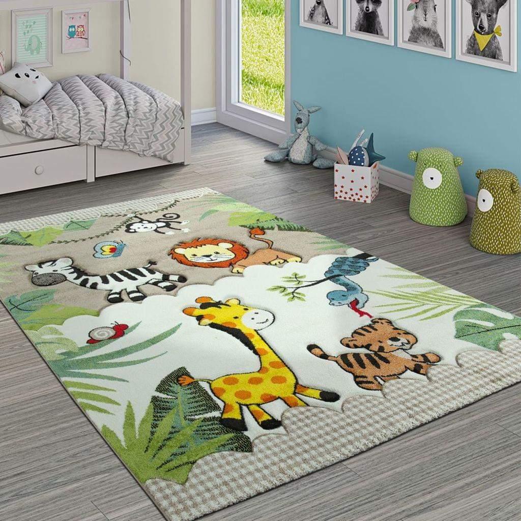 Tiere Im Garten Inspirierend Kinderteppich Kinderzimmer Dschungel Tiere Giraffe Löwe Affe Zebra Beige Creme Grösse 80×150 Cm