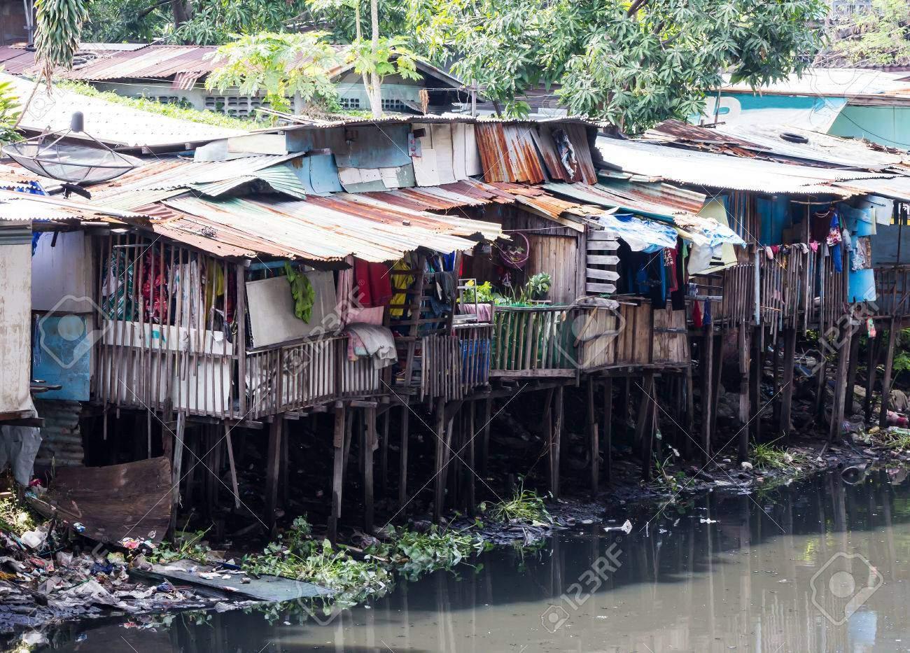 slum in bangkok thailand