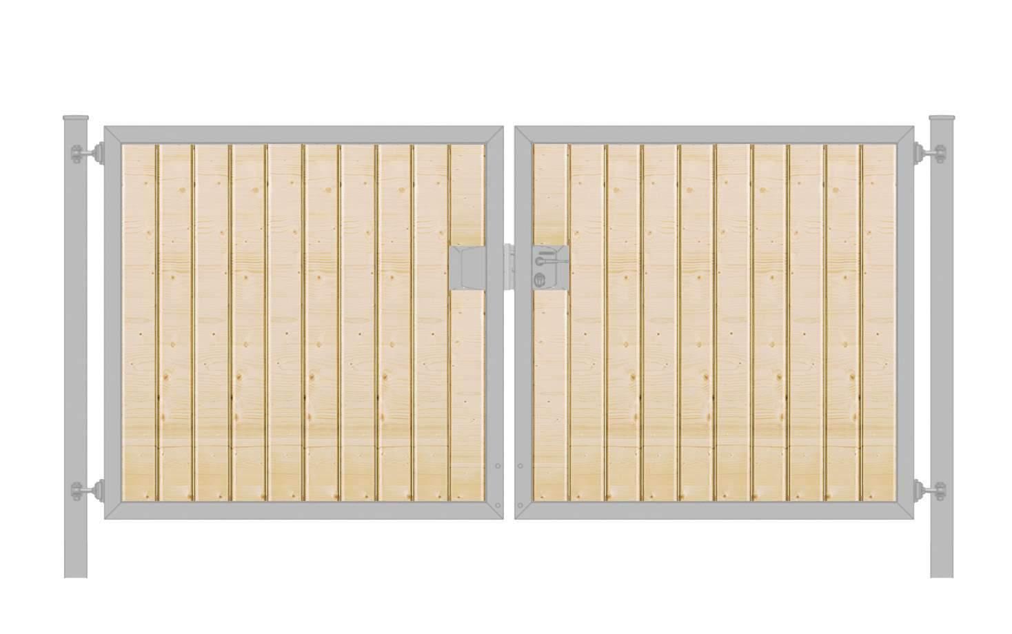 Einfahrtstor Holzfuellung senkrecht Premium zweifluegelig symmetrisch verzinkt5cab14dd2e76f 1280x1280 2x