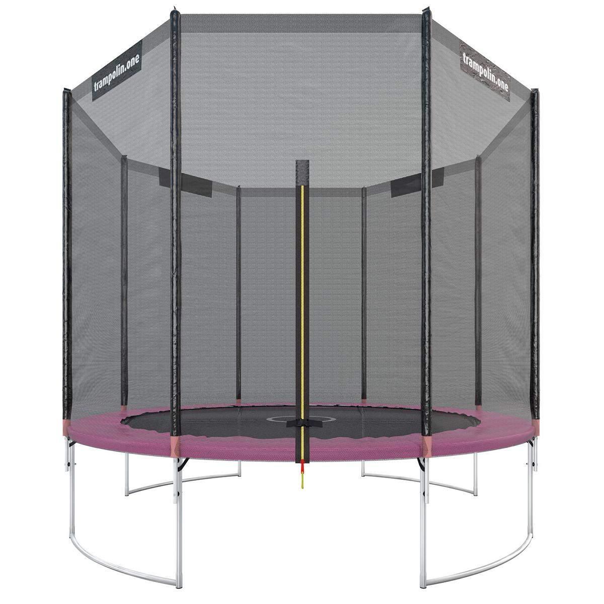 Trampolin starter 305 pink mit Sicherheitsnetz Bild 1