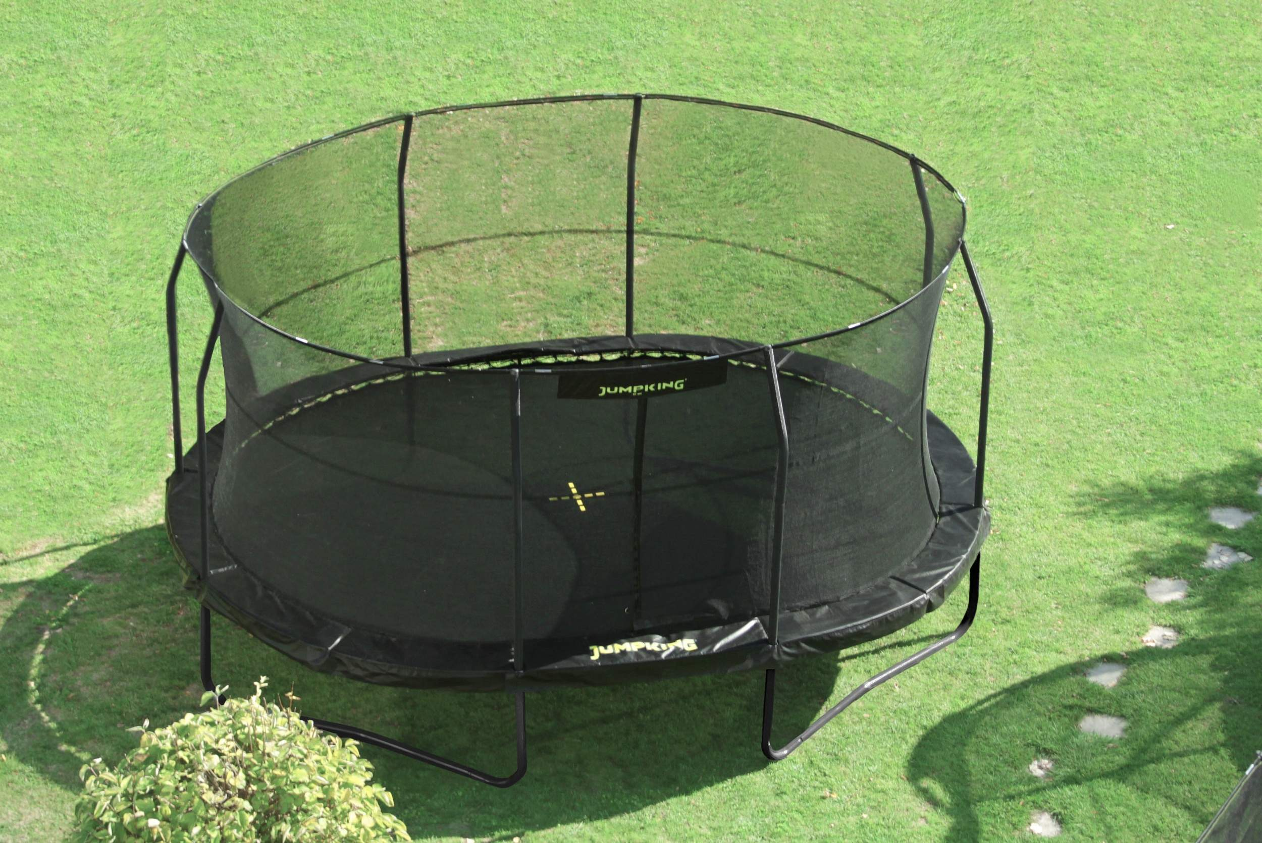 jumpking trampoline met net en ladder jumppod oval 518 x 427 cm zwart 2016 4