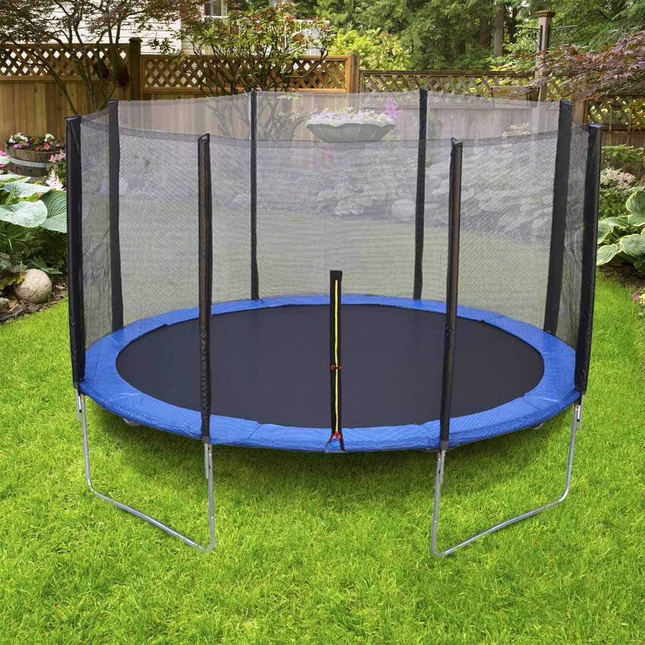 Trampolin Im Garten Einzigartig Trampolin Mit Sicherheitsnetz Für Kinder U Erwachsene