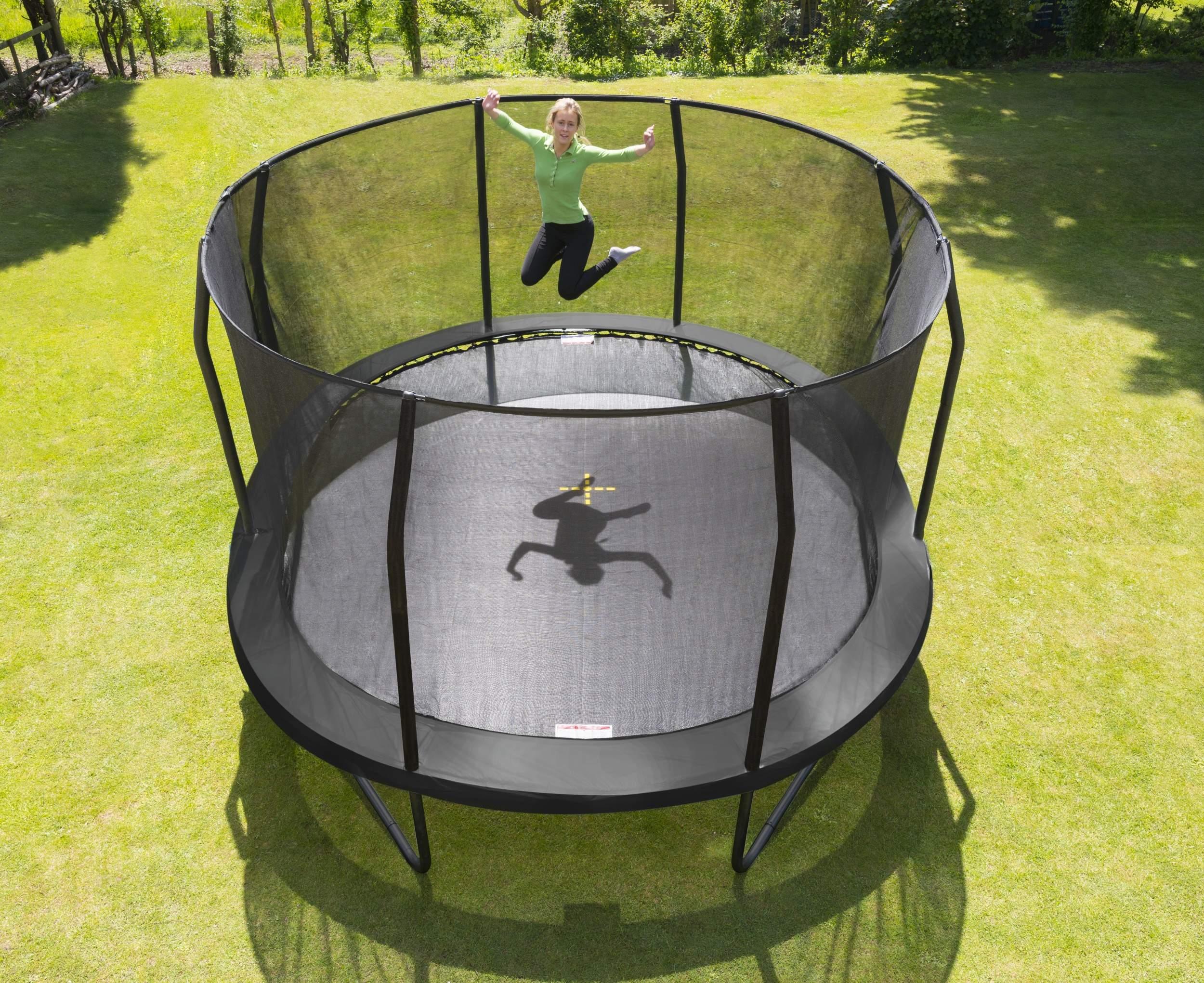 jumpking trampoline met net en ladder jumppod oval 518 x 427 cm zwart 2016 2