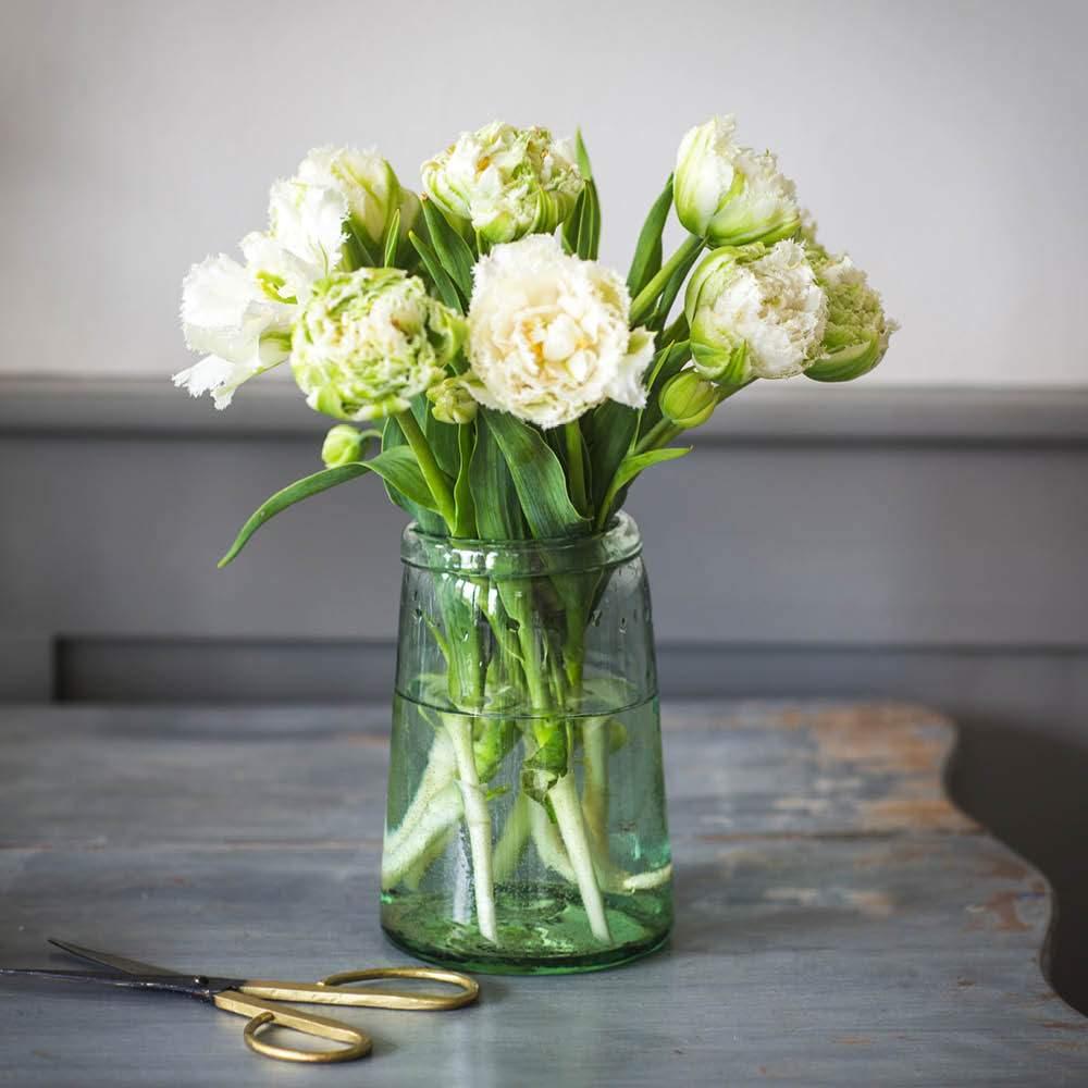 Recycling Glasvase Tulpe1