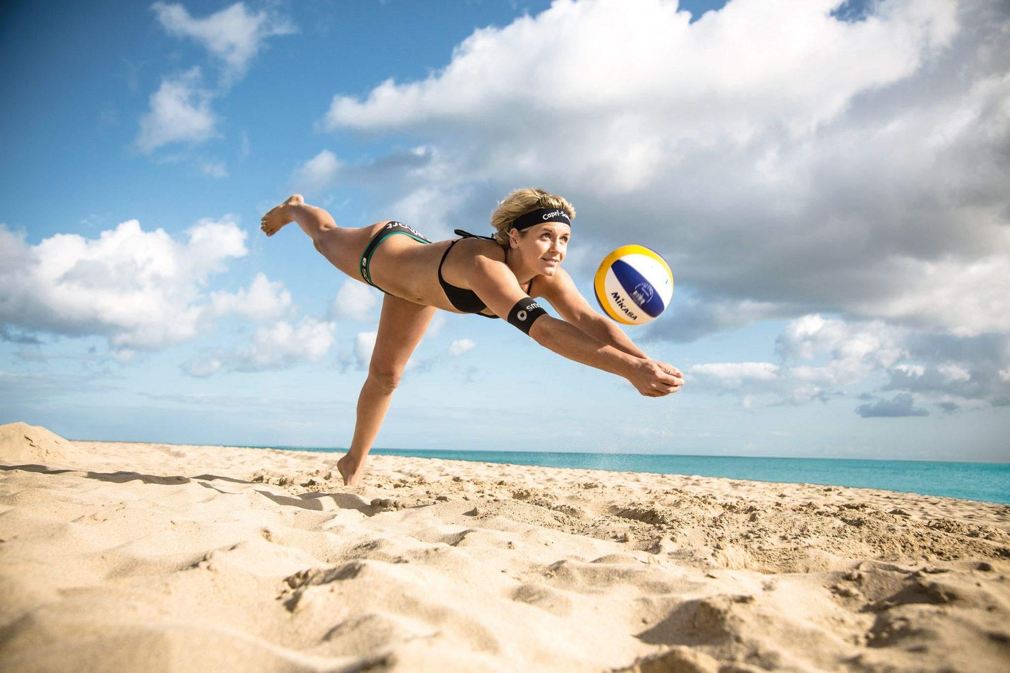 Volleyballnetz Garten Reizend Bilder Der Beachvolleyball Frauen Kira Walkenhorst Und Laura