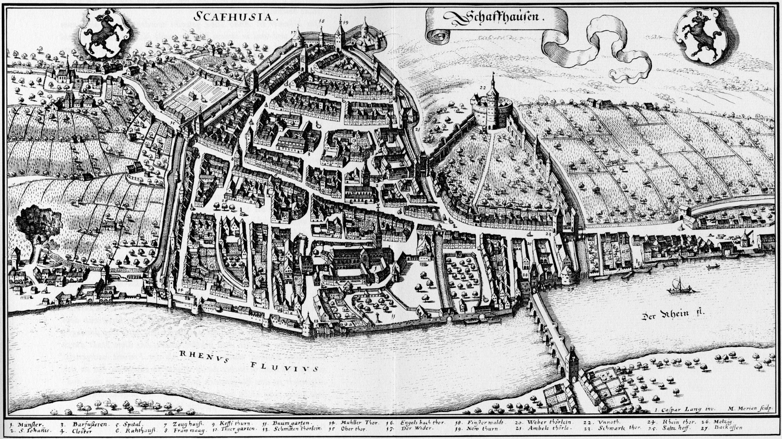Merian Schaffhausen 1642