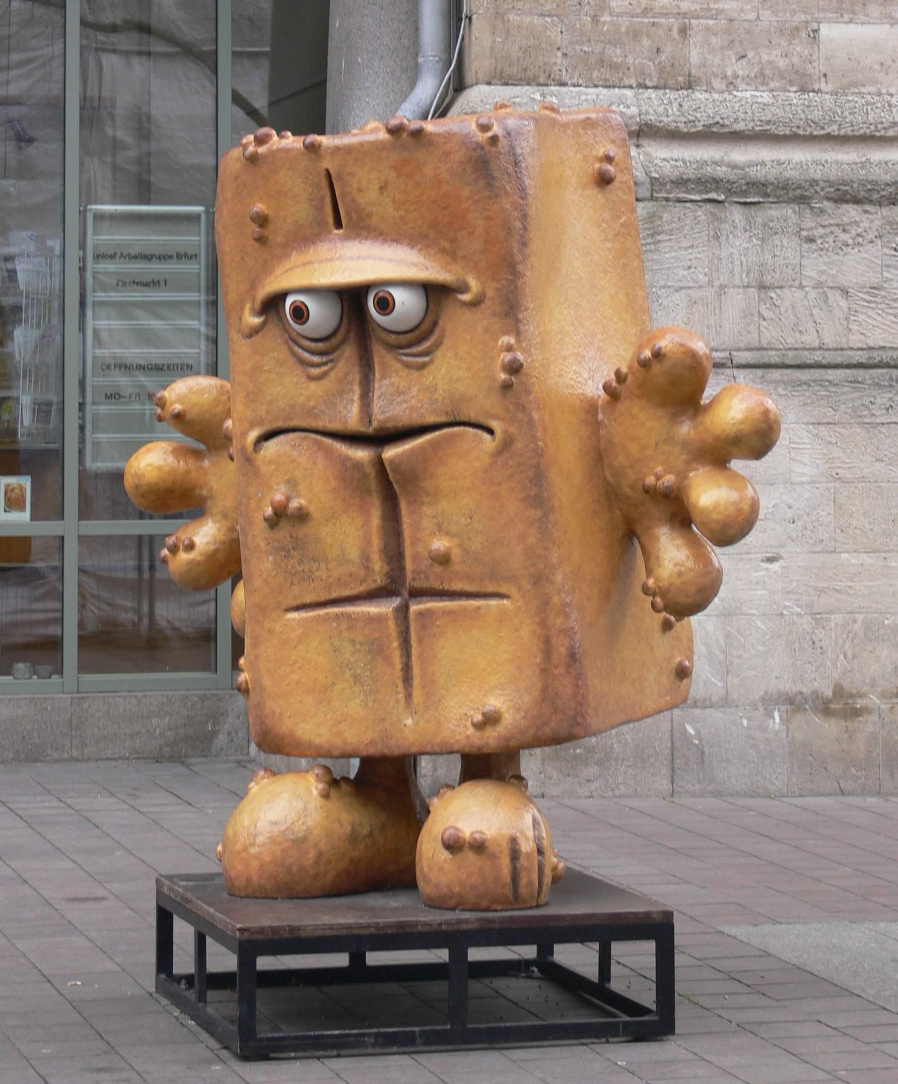 Erfurt Fischmarkt Bernd das Brot