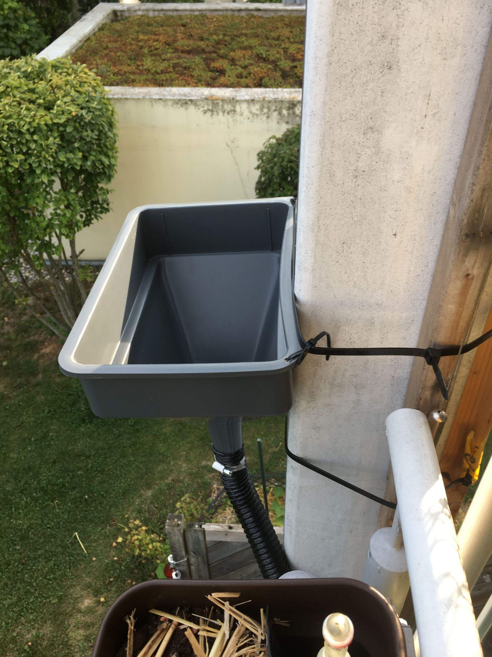 Wasserspeicher Garten Elegant Regenwasser Sammeln Mit Trichter Einfach Mit Kabelbindern