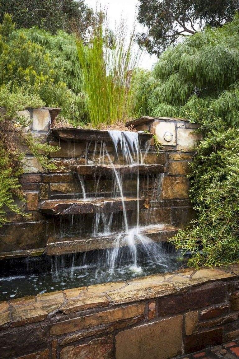 Wasserwand Garten Inspirierend 60 Aufregende Hinterhof Wasserfall Garten