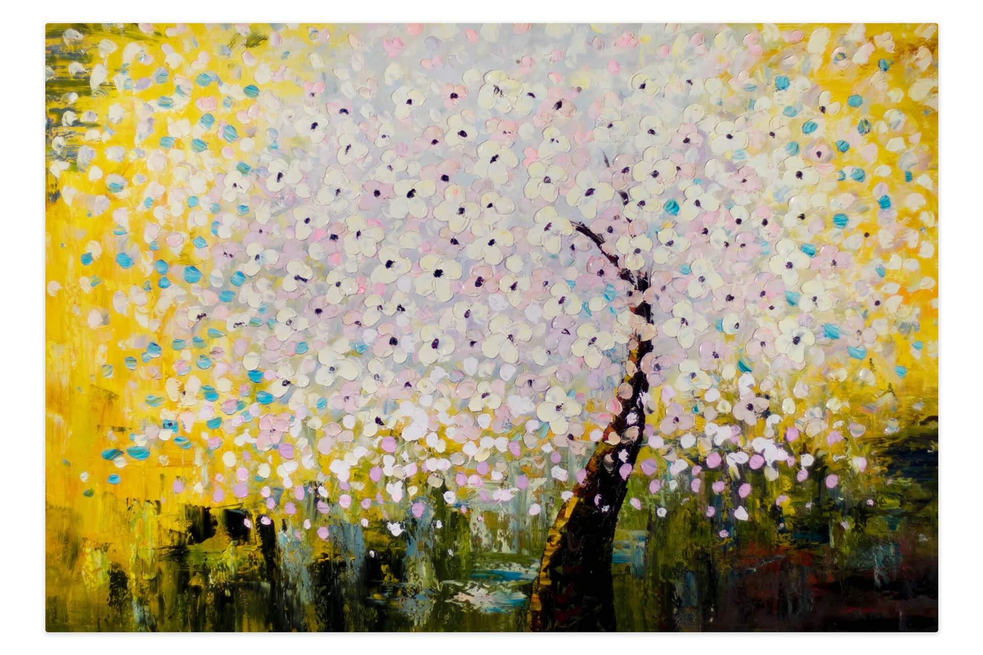 kl abstrakt baum weiss modern acryl gemaelde oel bild 01