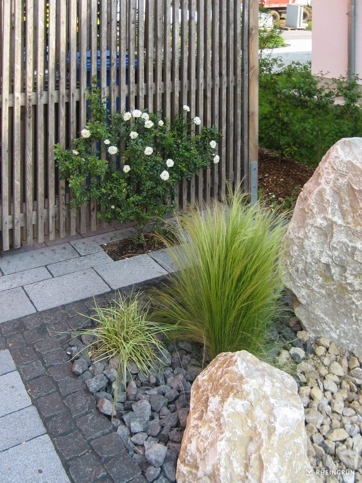 Zen Garten Anlegen Genial Pflegeleichter Vorgarten Mit Großen Steinen Und Gräsern