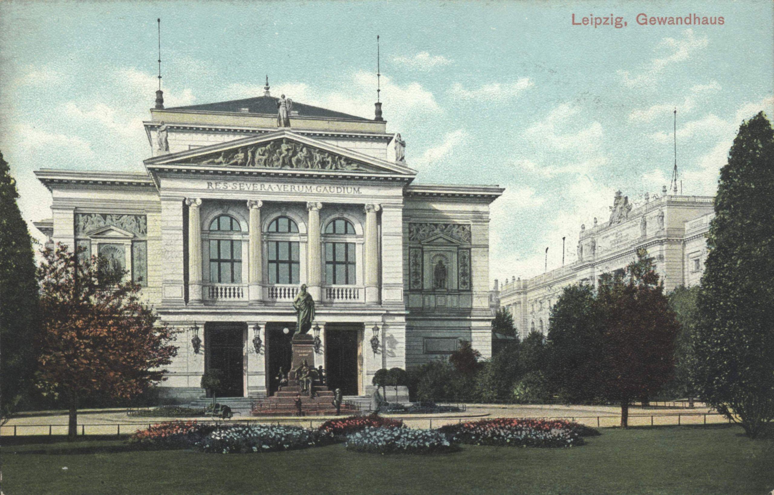Leipzig Gewandhaus um 1900